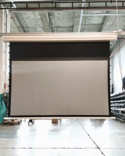 Piece of our favorites 👊🏻 Tensioned Grey 264x147 View Area 50 Cm Extra Drop Motorized Projection Screen ✨